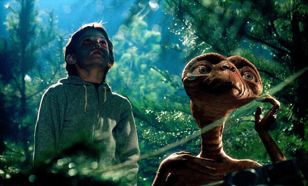 Scena tratta da E.T. l'Extra-Terrestre
