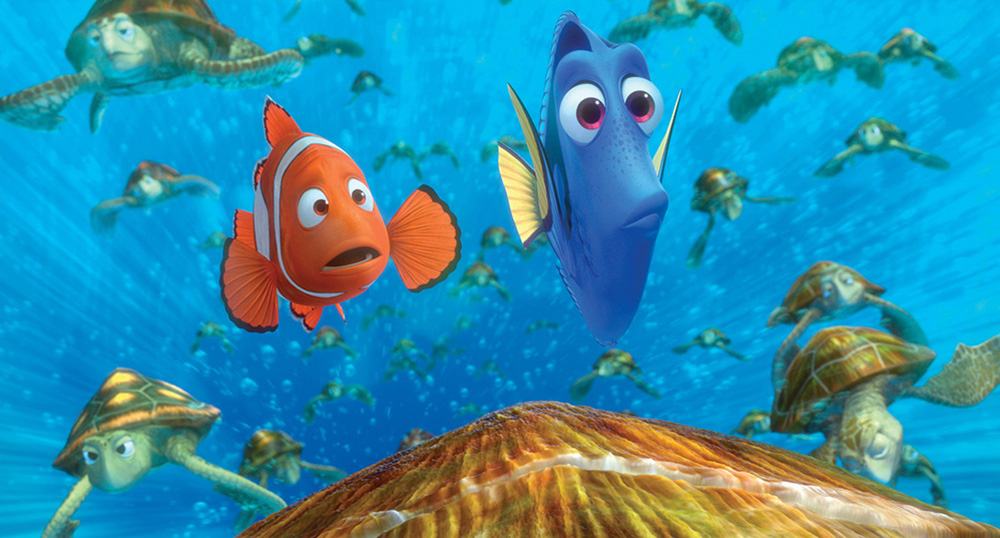Scena tratta da Finding Nemo