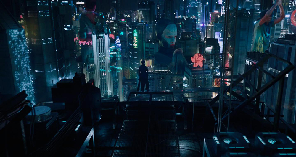 Scena tratta da Ghost in the Shell (2017)