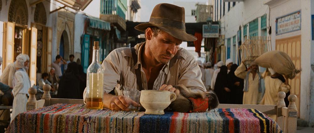Scena tratta da Indiana Jones e i Predatori dell'Arca Perduta