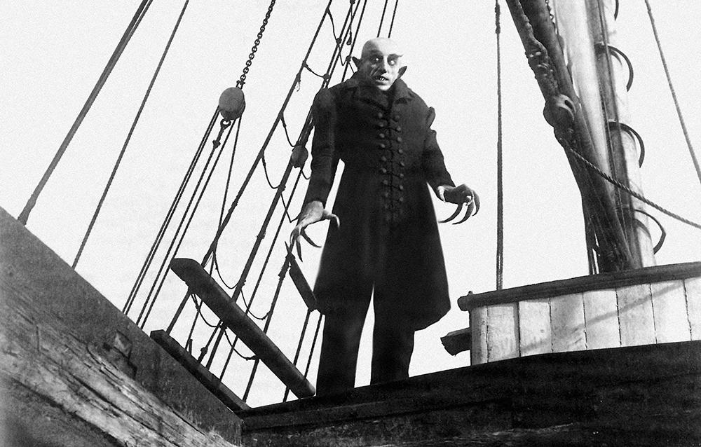 Scena tratta da Nosferatu, eine Symphonie des Grauens