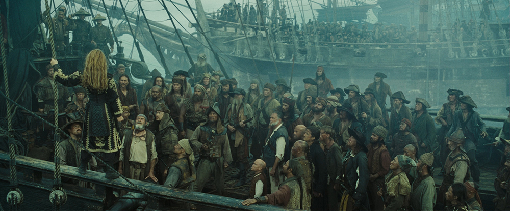 Scena tratta da Pirates of the Caribbean: At World's End