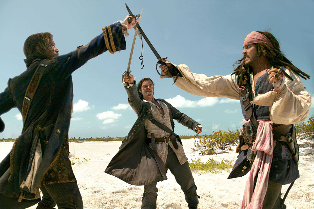 Scena tratta da Pirati dei Caraibi - La Maledizione del Forziere Fantasma