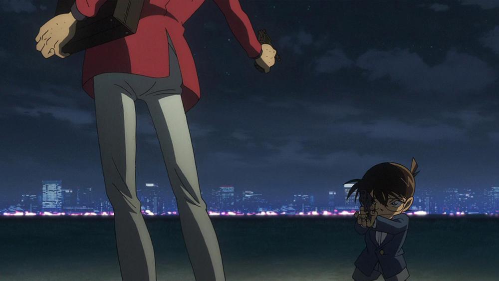 Scena tratta da Rupan Sansei Basasu Meitantei Konan - The Movie