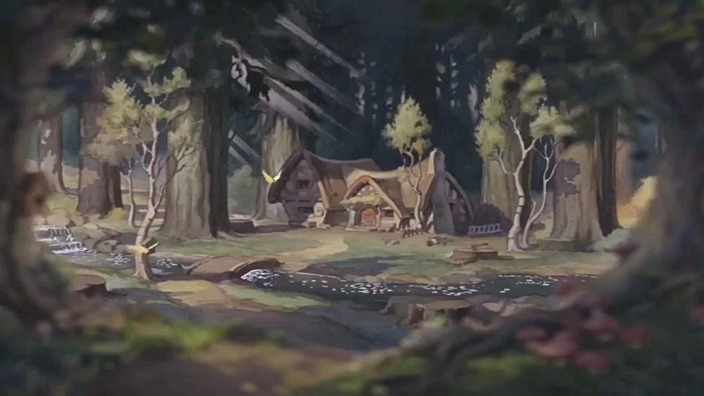 Scena tratta da Biancaneve e i Sette Nani