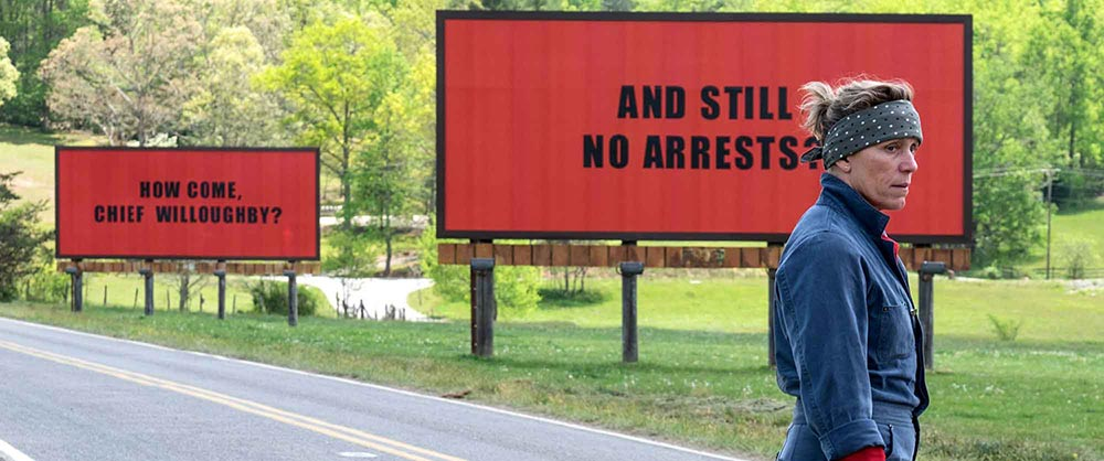 Scena tratta da Three Billboards Outside Ebbing, Missouri