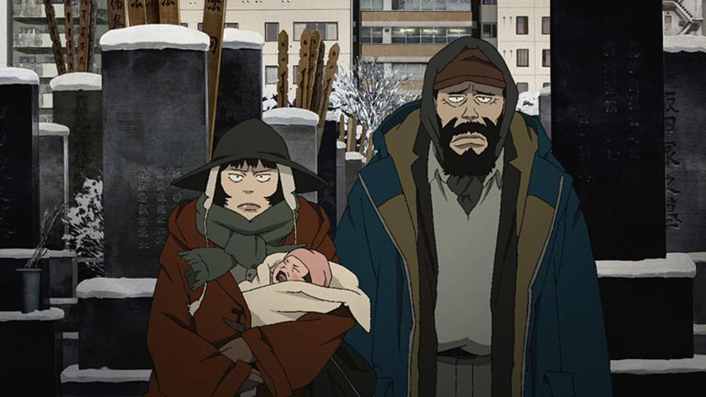 Scena tratta da Tokyo Godfathers